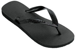 havaiana's Top Sandals, Black