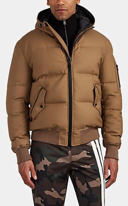 Aztech Mountain Men's Shadow Mountain Down Wool Bomber Jacket - Camel