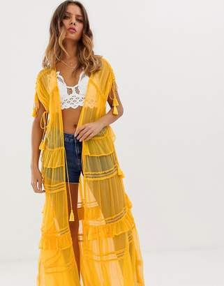 8f629b3ac Nfc NFC Capri maxi kimono with lace
