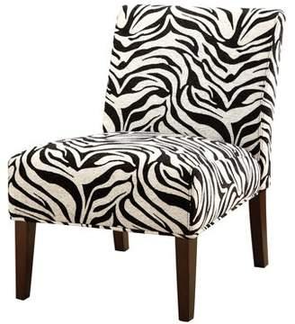 ACME Furniture ACME Abigail Accent Chair, Fabric & Espresso