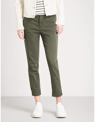 J Brand Josie turn-up skinny tapered mid-rise jeans
