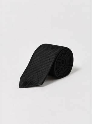 Topman Mens Black Premium Silk Tie