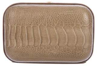 Christian Lacroix Embellished Ostrich Leg Clutch