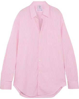 Vetements - Comme Des Garçons Oversized Striped Cotton-poplin Shirt - Pink $765 thestylecure.com