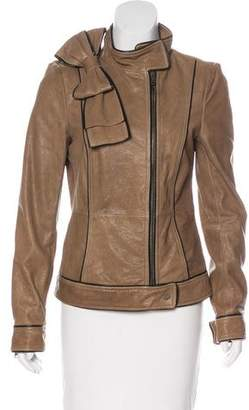 RED Valentino Zip-Up Leather Jacket