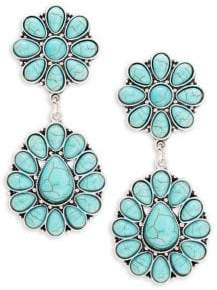 Lord & Taylor Design Lab Turquoise Squash Blossom Earrings