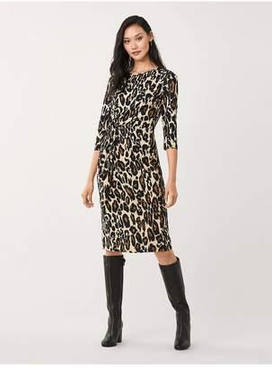 Diane von Furstenberg Pearl Silk-Jersey Knee-Length Dress