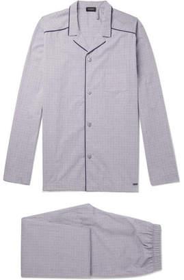 Hanro Checked Mercerised Cotton Pyjama Set