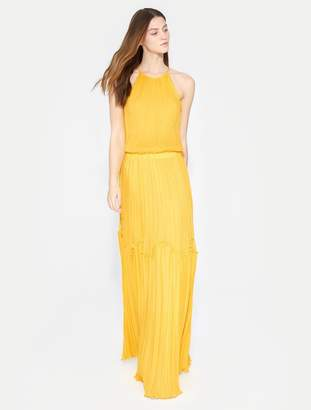 Halston Flowy Pleated Gown
