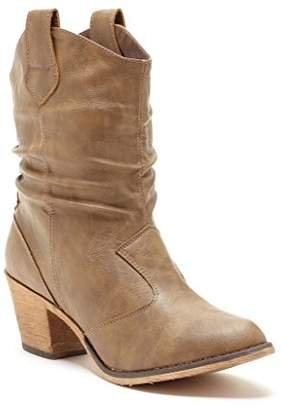 Charles Albert Women's Modern Western Cowboy Distressed Boot with Pull-up Tabs in Size: 8
