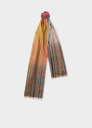 Paul Smith Men's Signature Stripe Gradient Wool-Blend Scarf