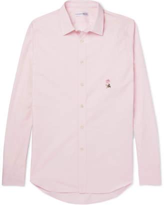 Alexander McQueen Slim-Fit Embroidered Cotton-Poplin Shirt
