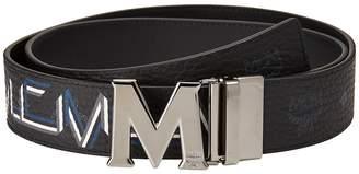 MCM Stark Gunta Silver Buckle Belt