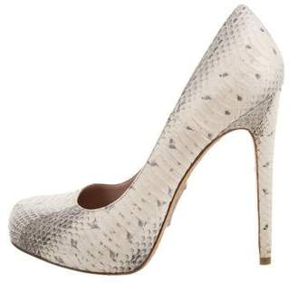 Alejandro Ingelmo Embossed Leather Pumps
