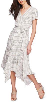 1 STATE Tribal-Print Maxi Wrap Dress