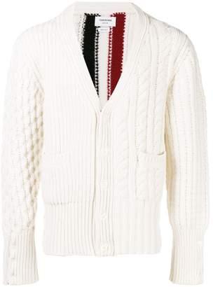 Thom Browne striped knit cardigan