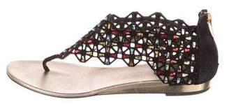 Rene Caovilla Embellished Thong Sandals