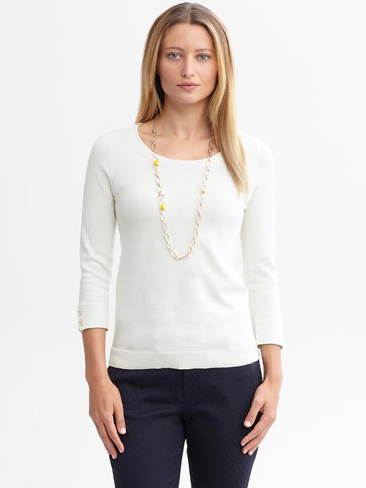 Banana Republic Button-sleeve pullover