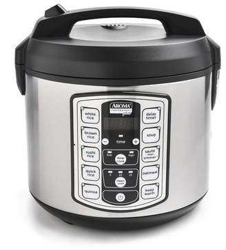 AROMA Stainless Steel 20 Cup Digital Rice Cooker, Food Steamer, & Slow Cooker