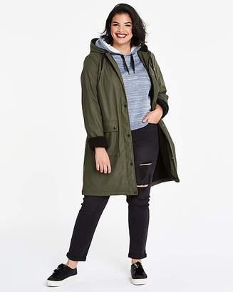 Fashion World Rain Coat With Borg Faux Fur Lining