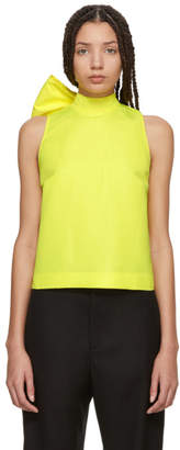 MSGM Yellow Bow Tank Top