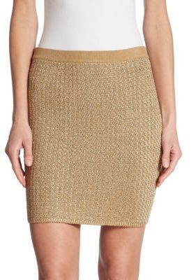 Ralph Lauren Collection Knit Mini Skirt $950 thestylecure.com