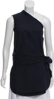 Stella McCartney One Shoulder Sash Tie Blouse