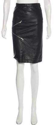 Boy By Band Of Outsiders Knee-Length Leather Skirt