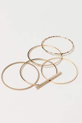 H&M 5-pack Bangles - Gold