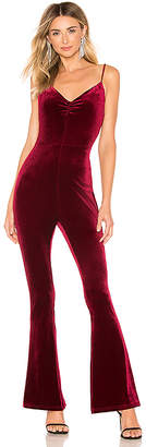 by the way. Lili Velvet Ruched Jumpsuit