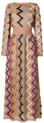 Missoni glitter patterned knit dress