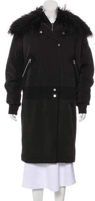 Faith Connexion Faux Fur-Trimmed Zip-Up Coat w/ Tags