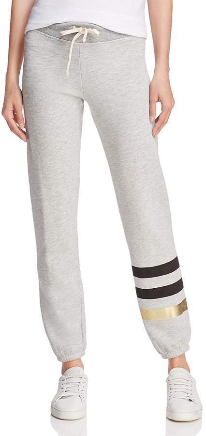 Metallic-Stripe Sweatpants