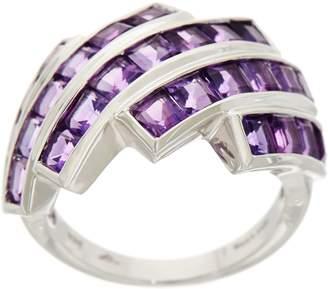 Square Cut Semi-Precious Gemstone Sterling Ring 2.00 cttw