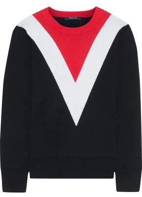 Derek Lam Color-block Wool-blend Sweater