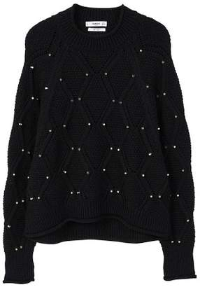 MANGO Studded knitted sweater