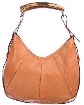 Saint Laurent Leather Horn Handle Mombasa Bag