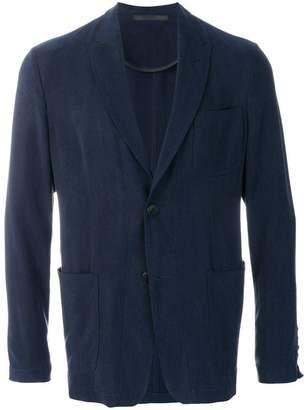 Giorgio Armani long sleeved jersey jacket