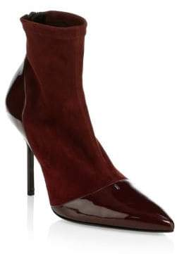 Pierre Hardy Suede& Leather High Heel Ankle Boots