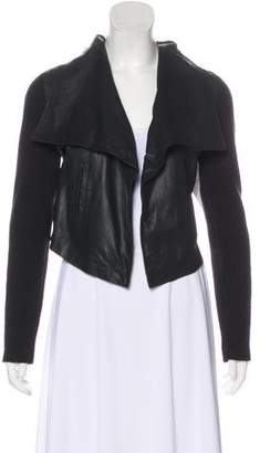 Joie Open Front Leather Jacket