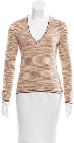 MissoniMissoni Wool V-Neck Sweater