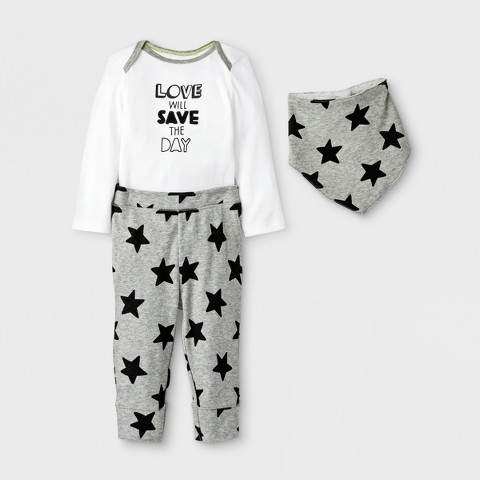 cloud island Baby's Save the Day 3pc Set - Cloud Island White