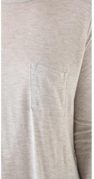 Alexander Wang Classic Long Sleeve Pocket Tee