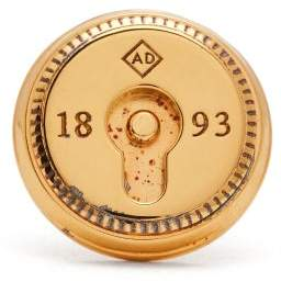 Dunhill Duke Lock Sterling Silver Lapel Pin - Mens - Gold
