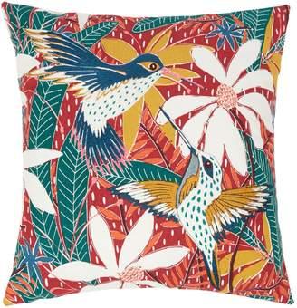 Linea Maui Hummingbird Embroidered Cushion