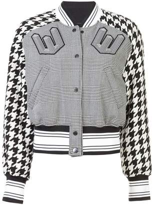 Off-White cropped bomber jacket