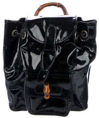 Gucci Vintage Patent Leather Mini Backpack