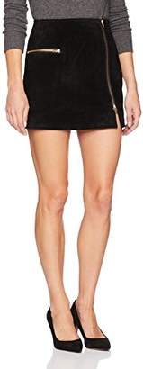 Blank NYC [BLANKNYC] Women's Suede Mini Skirt