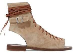 Belstaff Lace-Up Suede Sandals