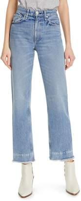 Rag & Bone Ruth Super High Waist Straight Leg Jeans